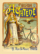 Antique Digital Art Prints - Acatene Bicycle Print by Gary Grayson