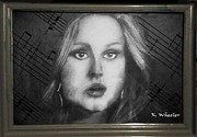 Adele Digital Art - Adele by Kelly Schutz