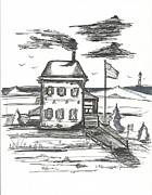 New Jersey Drawings Originals - Admirals House by Philip Blanche