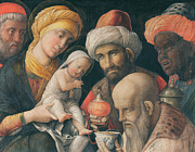 Adoration Of The Magi Print by Andrea Mantegna
