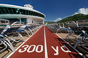 Run Metal Prints - Adventure of the Seas Jogging Track Metal Print by Amy Cicconi