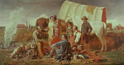 Groups Framed Prints - Advice on the Prairie  Framed Print by William Tylee Ranney