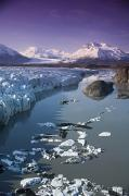 Matsu Prints - Aerial Of Knik & Colony Glacier Print by Jeff Schultz