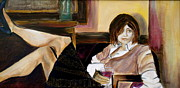 Woman Relaxing Prints - After a Long Day Print by Debi Pople
