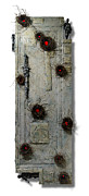 Old Door Mixed Media - Aftermath by Christopher Schranck