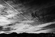 Air Travel Prints - Aircraft Contrail With Shadow On Lower Cloud Nevada Usa Print by Joe Fox