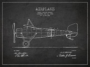 Airplane Patent Drawing From 1918 Print by Aged Pixel