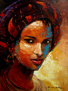 Ethnic Paintings - Aisha by Kanayo Ede