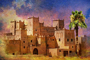 Hispanic Painting Metal Prints - Ait Benhaddou  Metal Print by Catf