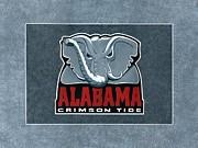 Alabama Crimson Tide Logo Print by Herb Strobino