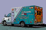 Samuel Sheats Art - Alameda County Medical Support Vehicle by Samuel Sheats