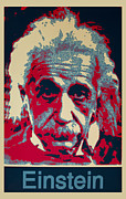 Nobel Prize Winner Prints - Albert Einstein Print by Unknown