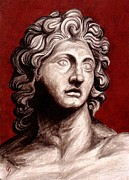 Ancient Greece Sculpture Posters - Alexander The Great Poster by Thiras art