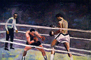 Cassius Clay Paintings - Ali and Rocky by Brian Forrest