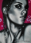 Movie Stars Painting Prints - Alicia Keys Print by Alicia Hayes