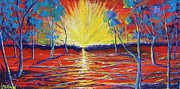 Sun Rays Painting Prints - All Is One Print by Stefan Duncan
