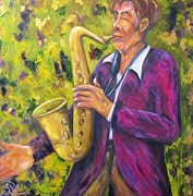 Mardi Gras Paintings - All That Jazz by Sandra Cutrer