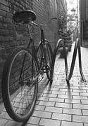 Two Wheeler Photo Originals - Alley Bike by Norman Fox