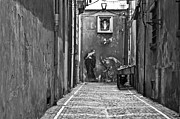 Religious Art Photo Metal Prints - Alleyway Metal Print by Marion Galt