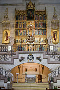 Interior Scene Photo Prints - Almudena Cathedral Altar Print by Artur Bogacki