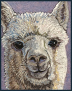 Wildlife Greeting Cards Tapestries - Textiles Posters - Alpaca Poster by Dena Kotka