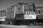 Blue Bricks Prints - Alpena Michigan - State Theater Print by Frank Romeo