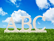 Abc Posters - Alphabet Letters Poster by Christopher and Amanda Elwell