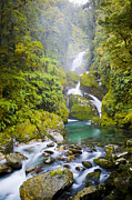 Tim Hester Prints - Amazing Waterfall Print by Tim Hester