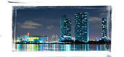 American Airlines Arena Framed Prints - American Airlines Arena and condominiums Framed Print by Carsten Reisinger