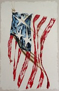 Patriots Painting Originals - American Flag Painting by Gigi Hackford