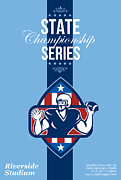 Featured Art - American Football State Championship Series Poster by Aloysius Patrimonio