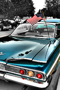 Usa Flag Mixed Media - American Hot Rod by Vicki McLead