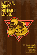 Ball Digital Art - American National Super Football League Poster by Aloysius Patrimonio