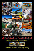 Single-engine Photo Prints - American Nostalgia - Airplane Poster Print by Leanne Howie