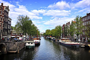 Tilt Shift Framed Prints - Amsterdam Canal Framed Print by Ivy Ho