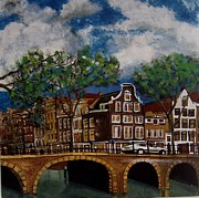 Nederland Paintings - Amsterdam by Niko Adrichem