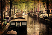 Historic Art - Amsterdam romantic canal by Photocreo Michal Bednarek