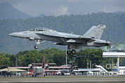 Featured Metal Prints - An Fa-18 Super Hornet Of The U.s. Navy Metal Print by Remo Guidi