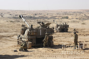 Battletank Prints - An Israel Defense Force Artillery Corps Print by Ofer Zidon