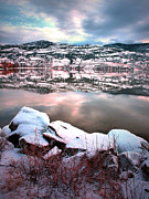 Solace Framed Prints - An Okanagan Winter Framed Print by Tara Turner