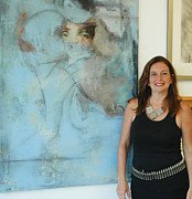 Textile Mixed Media - Anahi DeCanio and Dulcinea by Anahi DeCanio