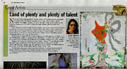Hall Mixed Media Framed Prints - Anahi DeCanio featured in Palm Beach Post Framed Print by Anahi DeCanio