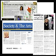 2012 Mixed Media - Anahi DeCanio in the Press by Anahi DeCanio