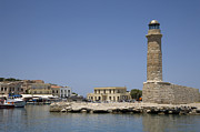 Limestone Carvings Posters - Ancient Venetian lighthouse Poster by Jim  Wallace