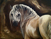 Spanish Horses Paintings - Andalusian Dream by Leni Tarleton