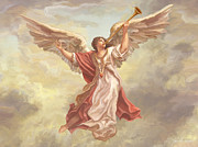 St. Augustine Cathedral Posters - Angel Heralds the Dawn Poster by John Alan  Warford