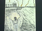 Alcatraz Mixed Media Prints - Angel in a Storm Print by Suzanne Berthier