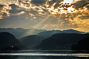 Ian Middleton - Angel rays over Lake Bled