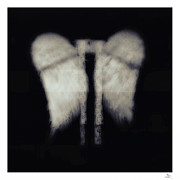 Black And White Symbolism Art - Angel Wings by Philip Sweeck