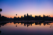Siem Reap Metal Prints - Angkor Wat Sunrise Metal Print by Fototrav Print